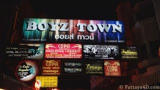 Pattaya 2013 Nightlife Boyz Town Boys Gay Bars Gay Agogo Bars