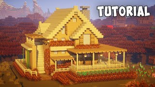 Minecraft: How to Build a Wooden House | Easy Survival House Tutorial
