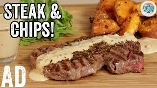 STEAK & PEPPERCORN SAUCE | EMOTION COOKBOOK #1 LOVE #ad by  My Virgin Kitchen