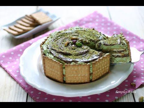 torta di biscotti al pistacchio e nutella - ricetta