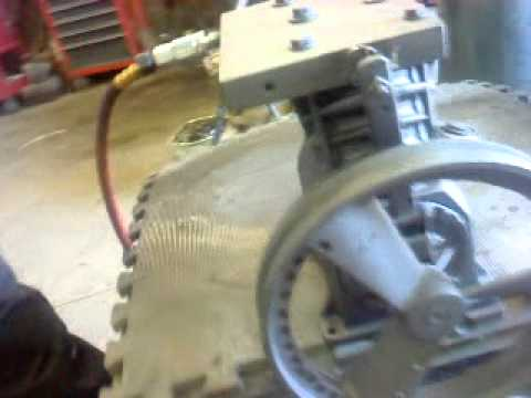 diy steam engine - Two cylinder Sears compressor. I made a new cylinder head with a valve system. If anybody need halp please live a note and i will contact you.