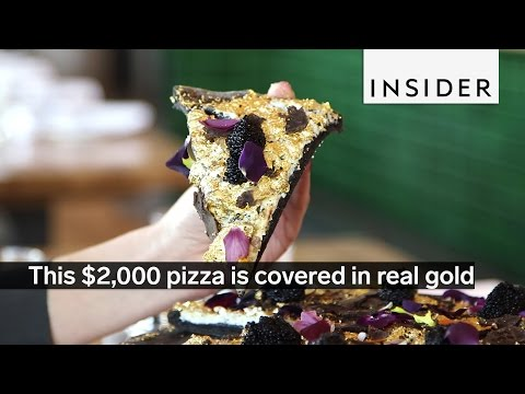 Gold Covered Pizza is Ridiculously Expensive