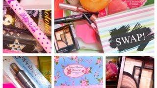 SWAP!!!跟美國朋友交換韓國,日本化妝品