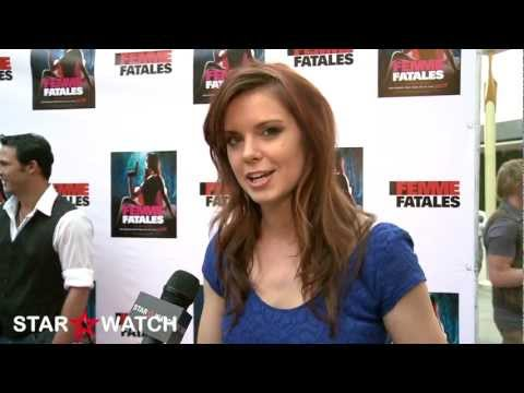 """Catherine Annette red carpet interview at """"Femme Fatales"""" season 2 premiere screening"""
