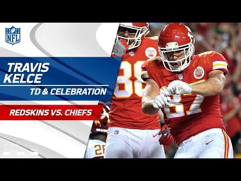 Video: Travis Kelce's Leaping TD Catch & Sweet Dance Moves! | Redskins vs. Chiefs | NFL Wk 4
