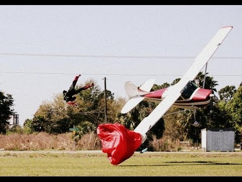 Unbelievable In-Air Collision between a Plane and Skydiver - Both are OK
