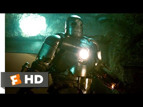 Iron Man (2008) - Cave Battle Scene (3/9) | Movieclips