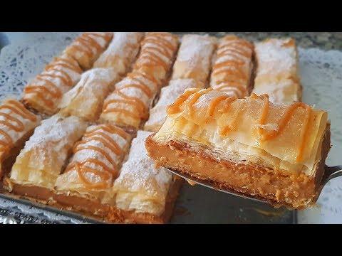 جدييييد ميلفاي التركي الشهييير بمذاق الكاراميل بدون عجين مورق  سهل و سريييع