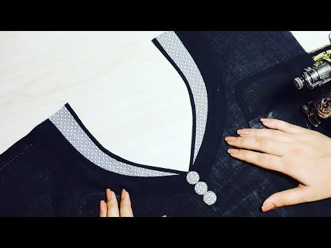 Churidar Piping Neck Design Simple And Easy
