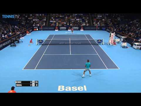 Shot - Watch Hot Shot as Borna Coric attacks Rafael Nadal's baseline game for a winner in Basel. Watch live matches at http://www.tennistv.com/