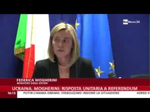 Bruxelles: le dichiarazioni del Ministro Federica Mogherini sulla situazione in Ucraina  al termine della riunione dei Ministri degli Esteri dell'UE