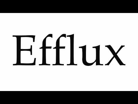 How to Pronounce Efflux