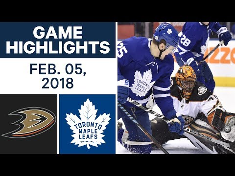 Video: NHL Game Highlights | Ducks vs. Maple Leafs - Feb. 5, 2018