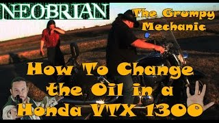 8. 2003-2009 Honda VTX 1300 Complete Oil Change - The Grumpy Mechanic