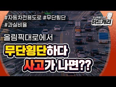 자동차 전용 도로, 보행자의 무단횡단 사고…차량도 과실이?