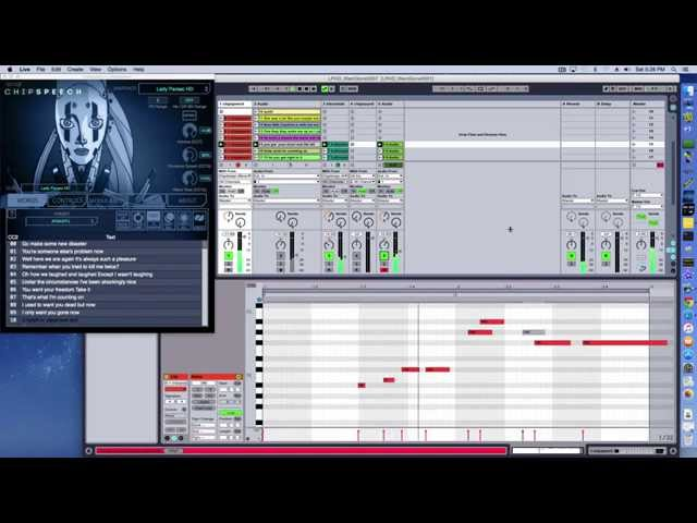 Recreating vocal tracks in Ableton Live with chipspeech