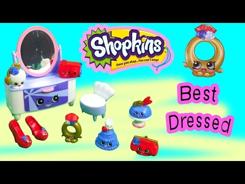 Shopkins Season 3 Playset Best Dressed Collection Fashion Spree Exclusive Dresser Shoes Toy Video