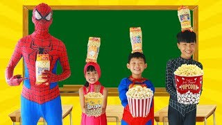 Video Spiderman Learn color with POPCORN w/ Superman tripped Frozen Elsa Paint Broom Heroes School Color MP3, 3GP, MP4, WEBM, AVI, FLV Agustus 2017