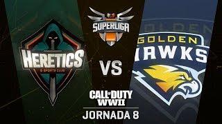 TEAM HERETICS VS GOLDEN HAWKS - SUPERLIGA ORANGE COD - JORNADA 8 - #SuperligaOrangeCOD8
