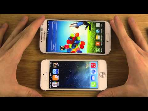 Samsung Galaxy S4 vs. iPhone 5 iOS 7 - Gaming Performance Comparison Review