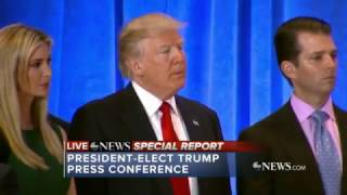 FULL: President-elect Donald Trump tears in to CNN & Buzzfeed at today's press conference