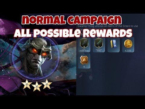 Injustice 2 Mobile Campaign All Possible Rewards