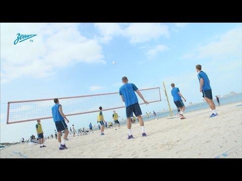 «Зенит-ТВ»: утренняя тренировка на песке - DomaVideo.Ru