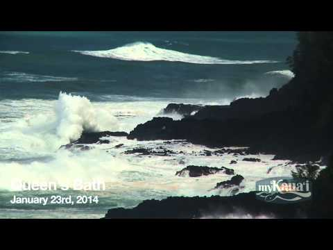 Huge Kauai Swell, Tow-In Surfing HD, January 2014
