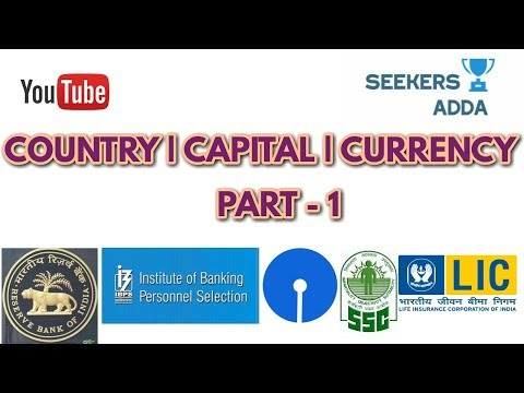 Countries - Capital - Currency of all countries states STATIC GK 2018 - 2019 Easy Tricks