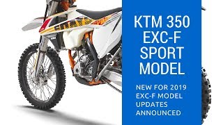 8. 2019 KTM 350 EXC-F Model Updates | Enduro Range