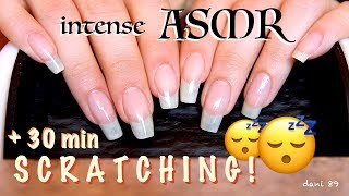 ✅ A requested video by You! ...30 minutes of ONLY SCRATCHING on TABLE and MIC with my lovely natural nails (my babies growing up! ☺️😍) + BONUS: 5 minutes of TAPPING!!! 💤With NEW AUDIO this video is super TINGLY and RELAXING! 😌 😴Very intense sound ear-to-ear ASMR:🌀 0:08-30:25  scratching🌀 30:25-35:50  tappingI hope you like it and enjoy it 💤💠 Suggestions are always welcome!!! ...PLEASE leave me comments, share this video with your friends, write me and subscribe on my channel! ♥ I'll really appreciate it!THANK YOU SO MUCH! ❤️I want to make high quality video, with special items and perfect sound, but to do that I also need you!I need your support to be able to buy new tools, particularly new professional microphones (I'd like   3 D i o  microphone!)!!I need your support to improve and grow more and more and at the same time to offer products of higher quality and amazing!I hope to have a helping hand from you who support me and believe in me! Each month I'll publish for you new videos...10-11 at least!The ASMR is a wonderful world that must be supported, especially here in Italy, where it still is not well known. The ASMR gives countless benefits to the people, can help stress, depression, anxiety, sadness. etc.I'll do everything to make you feel better and help you relax! 💤 ----------------------------------------SUPPORT MY CHANNEL----------------------------------------✦ SUPPORT ME with PAYPALif you want help me to improve the quality of this channel:https://www.paypal.com/cgi-bin/webscr?cmd=_s-xclick&hosted_button_id=JLDPTT9GLDES4Thank you very much for your generosity and kindness ❤️✦ PATREON: https://www.patreon.com/dani89---------------------FOLLOW ME---------------------✦ FACEBOOK dani 89: https://www.facebook.com/dani89longnaturalnails✦ INSTAGRAM: https://www.instagram.com/dani89_officialpage/✦ (second channel YouTube) dani ASMR: https://www.youtube.com/channel/UChR0iHoF8N_KRrIyhH-Plig---------------------------------------------------------------For BUSINESS and PRIVATE INQUIRIES---------------------------------------------------------------✎ If you want me to try your products or for any other request, please contact me on ✉ daniela.uptodate@gmail.com