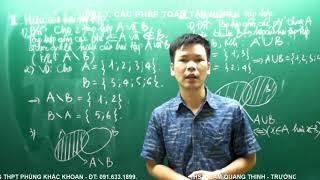 BG Toán 10 - Bài 3. Các phép toán tập hợp. Cac phep toan tap hop Cac phep toan tap hop Mời các bạn xem videos khác tại đây:...