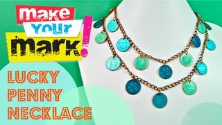 How to: Make a Lucky Penny Necklace (using nail polish) - YouTube