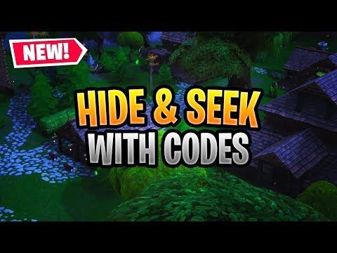 good hide and seek maps fortnite codes