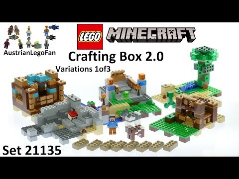 Lego Minecraft 21135 Crafting Box 2.0 Version 1of3 - Lego Speed Build Review