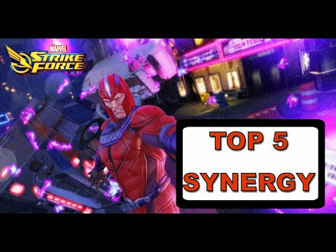 2019 TOP 5 SYNERGY!!! - Marvel Strike Force видео