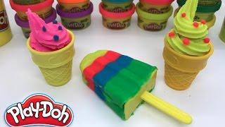 Play Doh Ice Cream Playset Playdough - How To Make Ice Cream With Play Doh