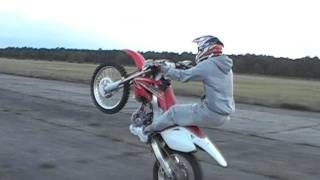 2. Kamil Zych (KAMYK)wheelie on honda crf 250 2009