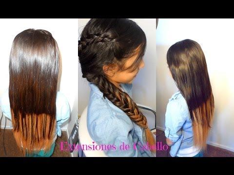 Como Ponerte Extensiones de Cabello| How to Clip Hair Extensions Tutorial| CositasyManualidades