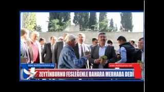 ZEYTİNBURNU FESLEĞENLE BAHARA MERHABA DEDİ