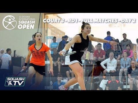Squash: El Gouna International - Court 3 - Rd 1 Full Matches - Day 2