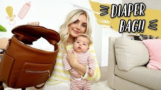 WHAT'S IN MY DIAPER BAG FOR A NEWBORN!! by Aspyn + Parker