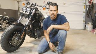 5. Fat Bob oil change - Harley Davidson FXDF