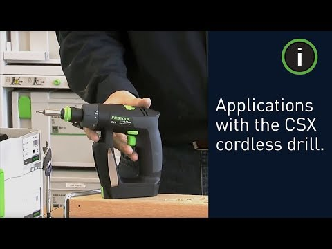 Festool CXS Compact Cordless Drill Demonstration