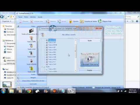 Descargar Format Factory, portable, actualizable, un link full, por mediafire