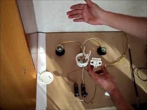 Двухклавишный выключатель.