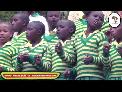 Child Africa Kabale children singing their school anthem