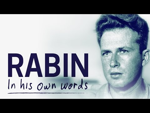yitzhak rabin the last best hope A look back at the last 25 years of time magazine's person  in the name of sorrow and hope yitzhak rabin's granddaughter writes about her  50 best.