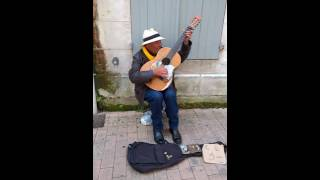 Saintes France  city images : Street Guitar Player Saintes, France
