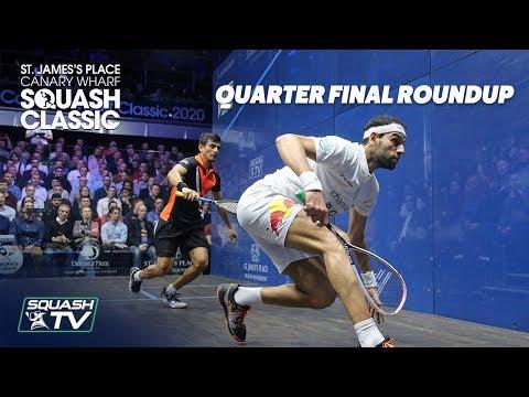 Squash: SJP Canary Wharf Classic 2020 - Quarter Final Roundup